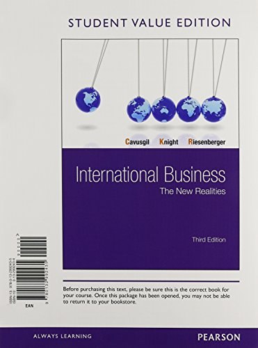 International Business: The New Realities, Student Value: Cavusgil, S. Tamer,