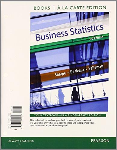 Business Statistics Student Value Edition Plus NEW: Sharpe, Norean D.,