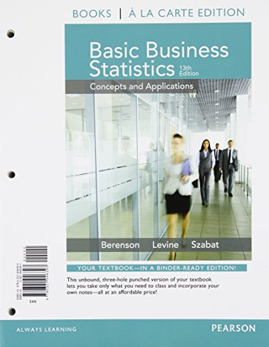 9780133873641: Basic Business Statistics Student Value Edition Plus NEW MyLab Statistics with Pearson eText -- Access Card Package (13th Edition)