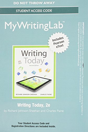 9780133873863: Mywritinglab with Pearson Etext -- Standalone Access Card -- For Writing Today