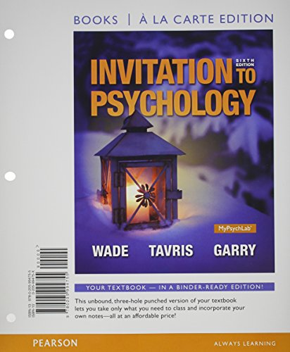 9780133873917: Invitation to Psychology, Books a la Carte Edition Plus NEW MyLab Psychology with Pearson eText -- Access Card Packge (6th Edition)