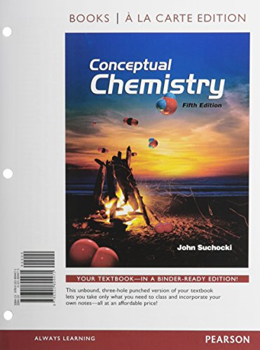9780133875591: Conceptual Chemistry, Books a la Carte Edition; Modified Mastering Chemistry with Pearson eText -- ValuePack Access Card -- for Conceptual Chemistry (5th Edition)
