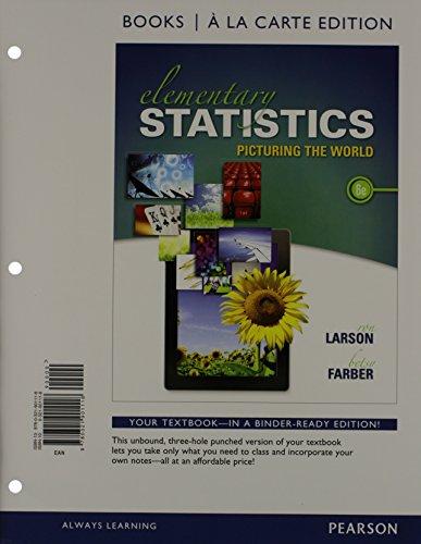 Elementary Statistics Books a la carte Plus: Larson, Ron, Farber,