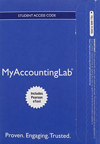 9780133877243: MyAccountingLab with Pearson eText -- Access Card -- for Horngren's Financial & Managerial Accounting, The Managerial Chapters