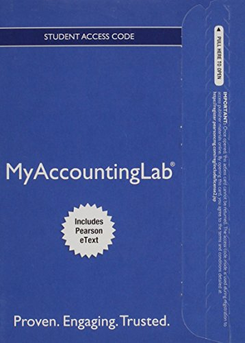 9780133877281: MyAccountingLab with Pearson eText -- Access Card -- for Horngren's Financial & Managerial Accounting, The Financial Chapters