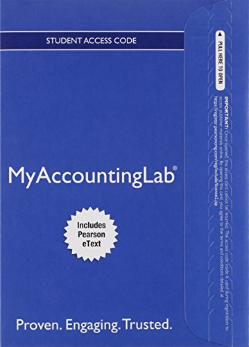 9780133877311: MyLab Accounting with Pearson eText -- Access Card -- for Horngren's Accounting: The Managerial Chapters (My Accounting Lab)