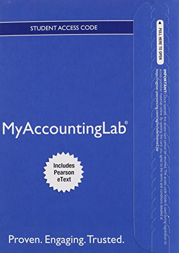 9780133877502: MyLab Accounting with Pearson eText -- Access Card -- for Horngren's Accounting, The Financial Chapters (My Accounting Lab)