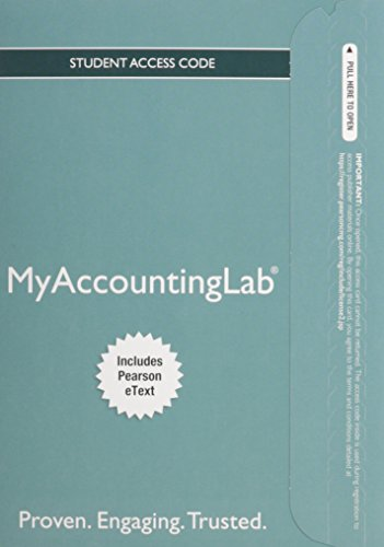 9780133877571: Horngren's Accounting Myaccountinglab With Pearson Etext Access Card