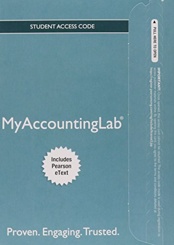 9780133877601: MyLab Accounting with Pearson eText -- Access Card -- for Horngren's Financial & Managerial Accounting (My AccountingLab)
