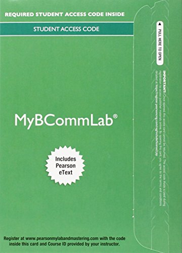 9780133877663: MyLab Business Communication with Pearson eText -- Access Card -- for Business Communication Today (My Bcomm Lab)