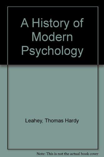 9780133878202: A History of Modern Psychology