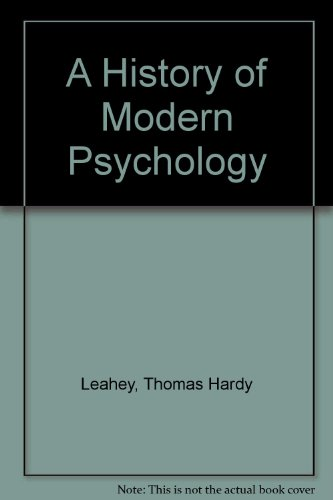 9780133878202: A History of Modern Psychology