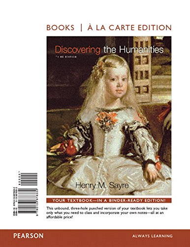 9780133878332: Discovering the Humanities, Books a la Carte Edition (3rd Edition)