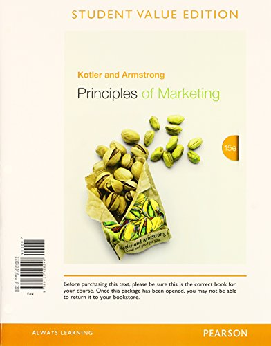 9780133878349: Principles of Marketing