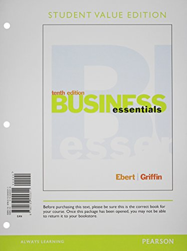 9780133879131: Business Essentials, Student Value Edition, Plus 2014 MyBizLab with Pearson eText -- Access Card Package (10th Edition)