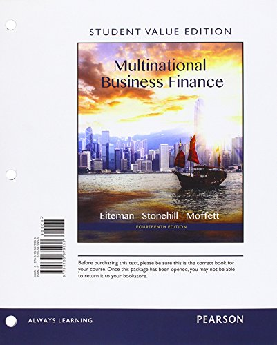 9780133879933: Multinational Business Finance, Student Value Edition (14th Edition)