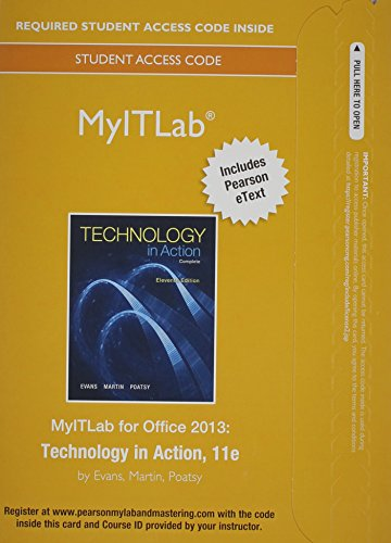 9780133880434: Myitlab with Pearson Etext -- Access Card -- Technology in Action