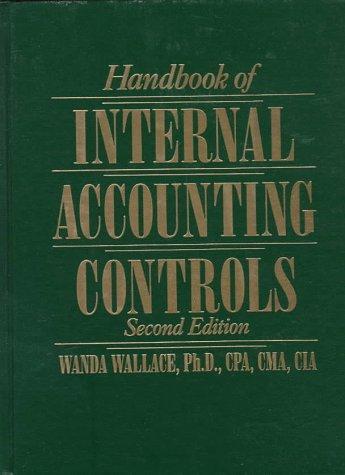 9780133880595: Handbook of Internal Accounting Controls