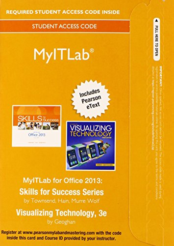 9780133881011: MyITLab with Pearson eText -- Access Card -- for Skills with Visualizing Technology