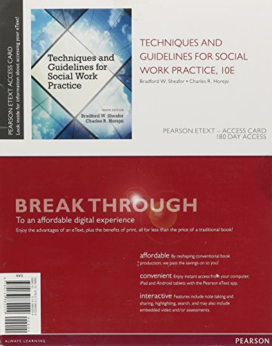 9780133882209: Techniques and Guidelines for Social Work Practice, Pearson eText -- Access Card
