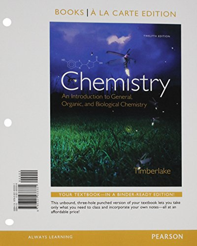 9780133882223: Chemistry: An Introduction to General, Organic, and Biological Chemistry, Books a la Carte, Lab Manual, Mastering Chemistry with eText and Access Card (12th Edition)