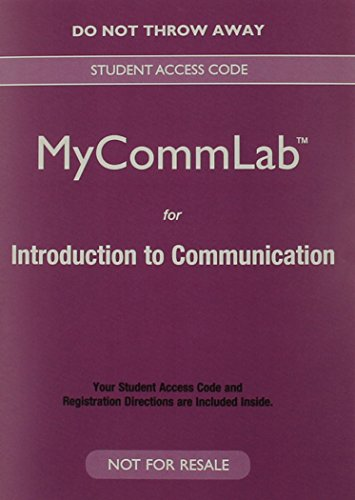 9780133882940: NEW MyLab Communication for Introduction to Communication -- Valuepack Access Card (New My Communication Lab)