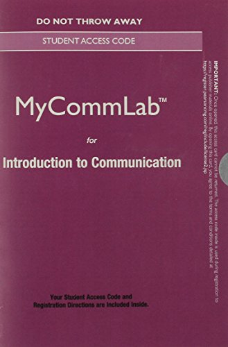 9780133882964: NEW MyLab Communication without Pearson eText -- Standalone Access Card -- for Introduction to Communication