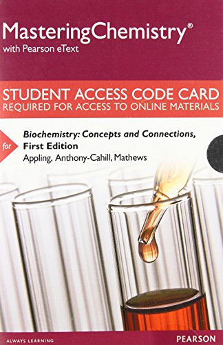 9780133883886: Mastering Chemistry with Pearson eText -- Standalone Access Card -- for Biochemistry: Concepts and Connections