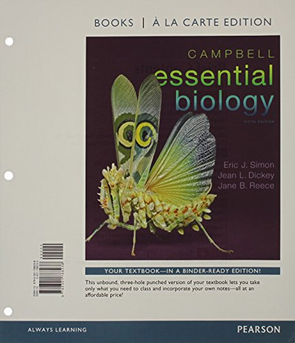 9780133884906: Campbell Essential Biology, Books a la Carte Edition & Modified MasteringBiology with Pearson eText -- ValuePack Access Card -- for Campbell Essential Biology (with Physiology chapters) Package