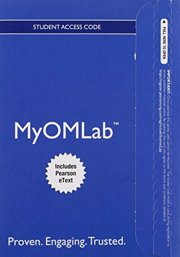 9780133885583: MyLab Operations Management with Pearson eText -- Access Card -- for Operations Management: Processes and Supply Chains