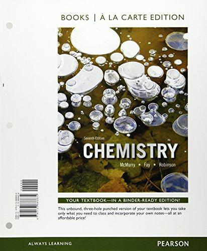 9780133886634: Chemistry, Books a la Carte Edition (7th Edition)