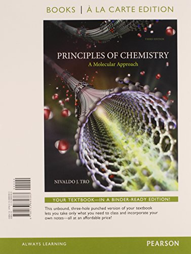 9780133889383: Principles of Chemistry: A Molecular Approach, Books a la Carte Edition (3rd Edition)