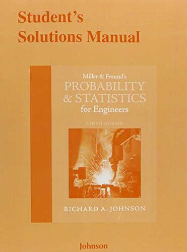 9780133889451: Student's Solutions Manual for Miller & Freund's Probability and Statistics for Engineers