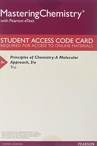 9780133890686: MasteringChemistry with Pearson eText -- ValuePack Access Card -- for Principles of Chemistry: A Molecular Approach