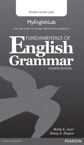 9780133891362: Fundamentals of English Grammar MyEnglishLab (Access Code Card)
