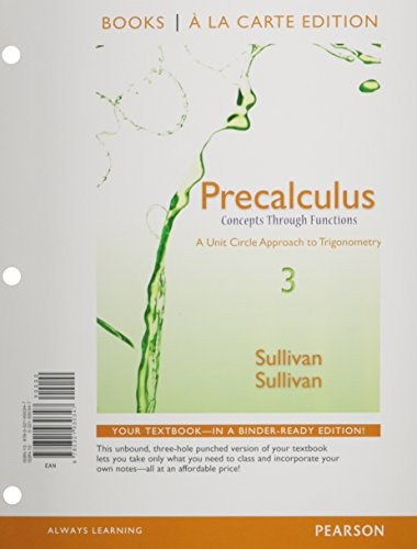 9780133892086: Precalculus: Concepts Through Functions, A Unit Circle Approach to Trigonometry, Books a la Carte Edition Plus NEW MyLab Math -- Access Card (3rd Edition)