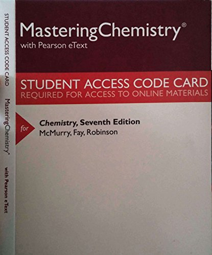 9780133892321: Modified MasteringChemistry with Pearson eText -- ValuePack Access Card -- for Chemistry