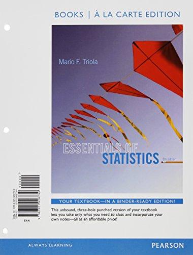Essentials of Statistics Books a la carte Plus NEW MyStatLab with Pearson eText -- Access Card ...