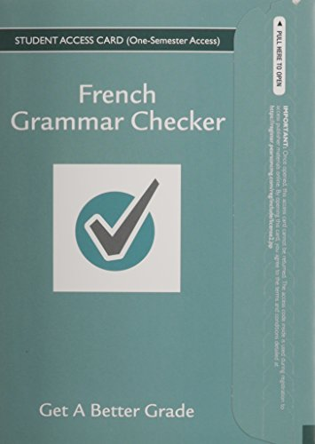 9780133893755: French Grammar Checker Access Card (One Semester)