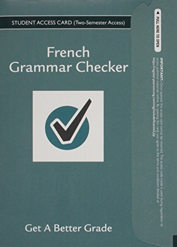 9780133893762: French Grammar Checker Access Card (One Year)