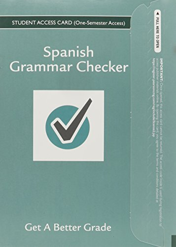 9780133893786: Spanish Grammar Checker Access Card (One Semester)