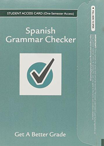 9780133893786: Spanish Grammar Checker Access Card (one semester)