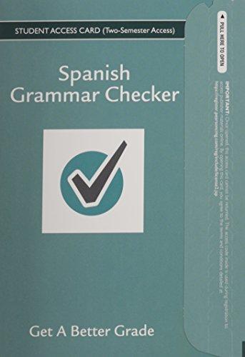 9780133893793: Spanish Grammar Checker Access Card (one year)