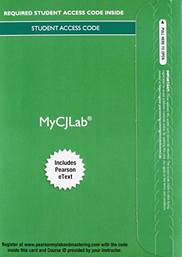 9780133895407: MyCJLab with Pearson eText -- Access Card -- for Criminal Procedure