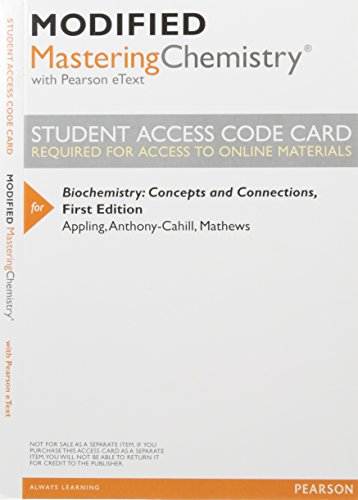 9780133900149: Modified MasteringChemistry with Pearson eText -- ValuePack Access Card -- for Biochemistry: Concepts and Connections