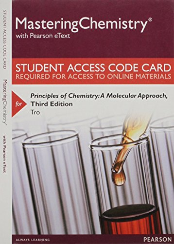 9780133900828: Mastering Chemistry with Pearson eText -- Standalone Access Card -- for Principles of Chemistry: A Molecular Approach (3rd Edition)