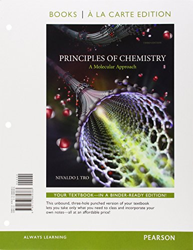 9780133902419: Principles of Chemistry: A Molecular Approach, Books a la Carte Plus Mastering Chemistry with eText -- Access Card Package (3rd Edition)
