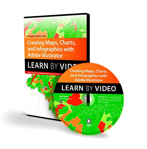 9780133902686: Creating Maps, Charts, and Infographics with Adobe Illustrator: Learn by Video