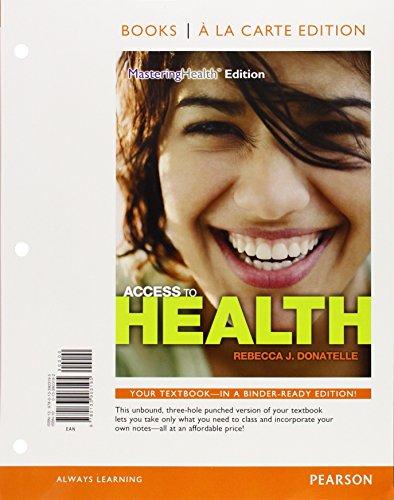 9780133903195: Access to Health, Books a la Carte Edition (14th Edition)