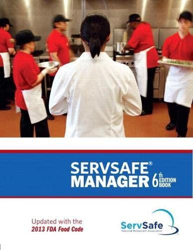 ServSafe Manager with Answer Sheet Revised: National Restaurant Associatio